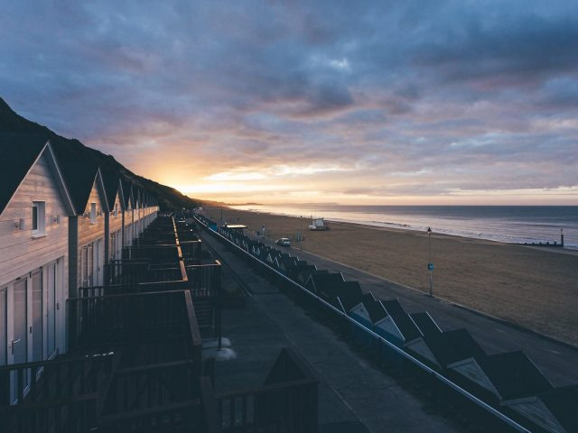 A sunrise at Bournemouth Beach Lodges