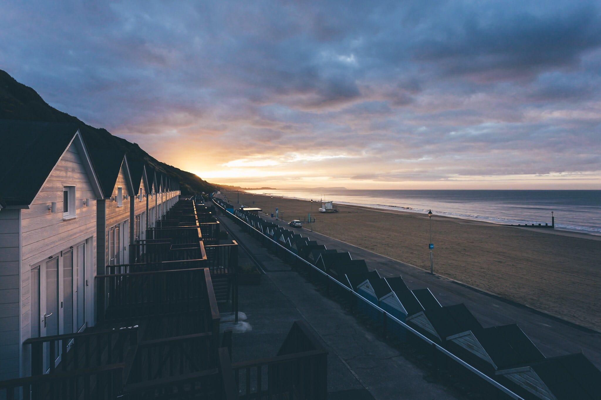 A sunrise at Bournemouth Beach Lodges