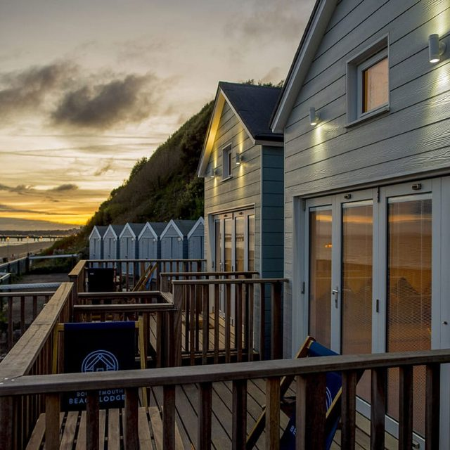 Beach Lodges Sunset