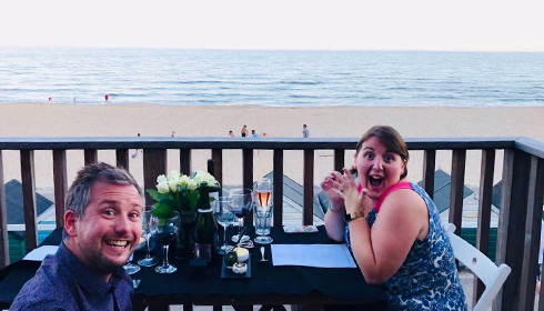 A proposal at Bournemouth Beach Lodges