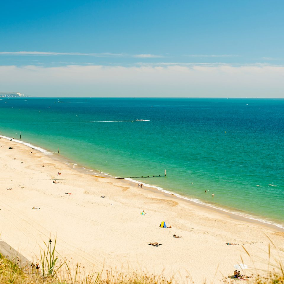 Incredible blue and green colour's of the Bournemouth seaside