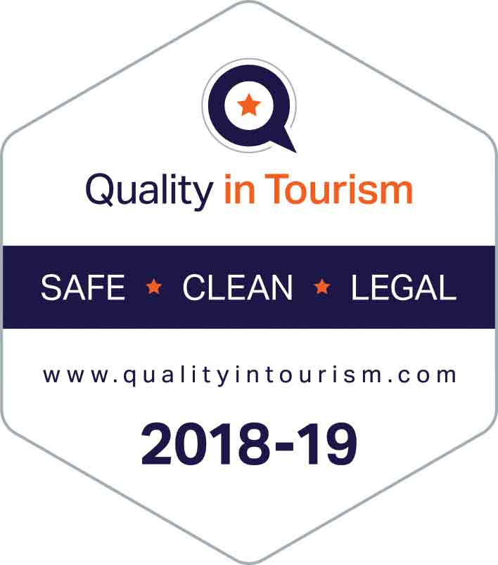 Quality in Tourism 2018-2019 award logo