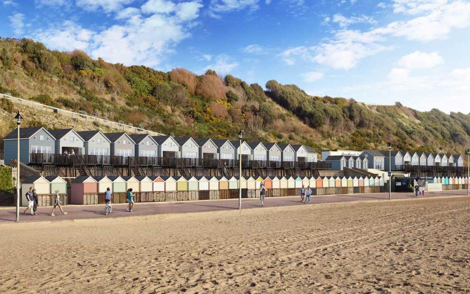 CGI impression of extra beach huts
