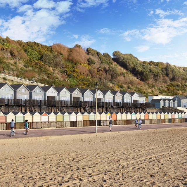 Artists CGI impression of new beach lodges
