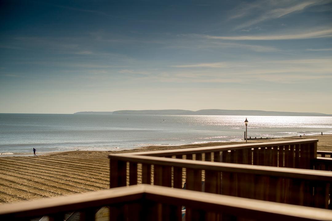 Incredible views of the beach and sea from the beach lodge veranda